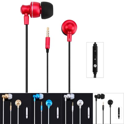 Фотография M300 1.2m Cable In - ear Earphone 3.5mm Jack Handfree Headphone with Mic and Volume Control Button