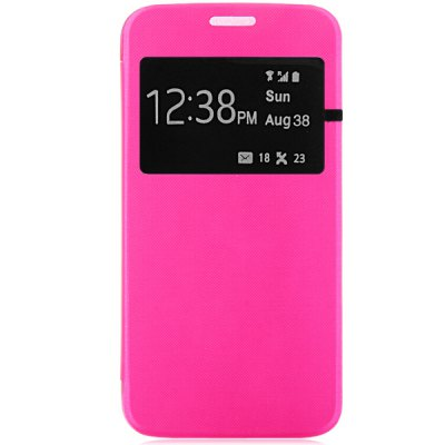 ФОТО PU and PC Material View Window Design Cover Case for Samsung Galaxy S6 G9200