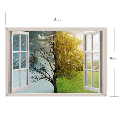 Фотография Tree of Life Pattern Home Appliances Decoration 3D Wall Sticker
