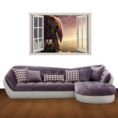 ФОТО Mysterious Pirate Ship Pattern Home Appliances Decoration 3D Wall Sticker