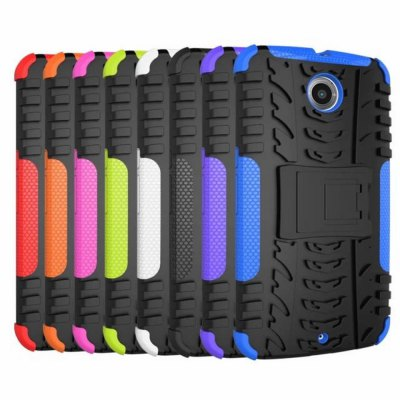 ФОТО Stand Design TPU and PC Material Protective Back Cover Case for Google Nexus 6