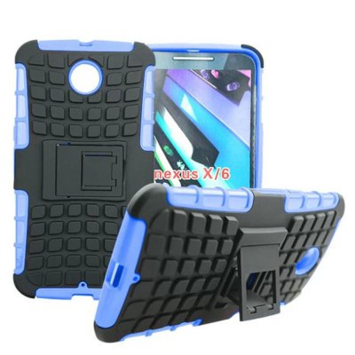 ФОТО Stand Design TPU and PC Material Tire Pattern Protective Back Cover Case for Google Nexus 6