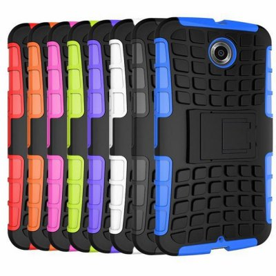 Фотография Stand Design TPU and PC Material Tire Pattern Protective Back Cover Case for Google Nexus 6