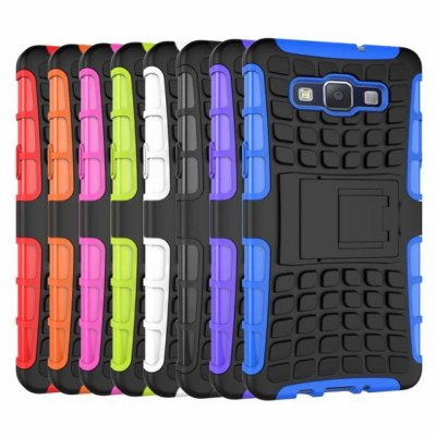 Фотография Stand Design TPU and PC Material Tire Pattern Protective Back Cover Case for Samsung Galaxy A5 A5000