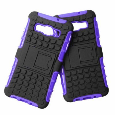 ФОТО Stand Design TPU and PC Material Tire Pattern Protective Back Cover Case for Samsung Galaxy A3 A3000
