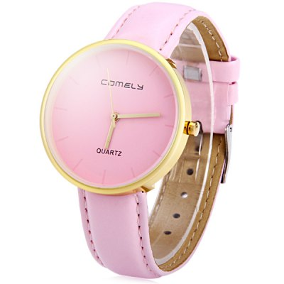 Comely 13812 Ultrathin Round Dial Female Quartz Watch