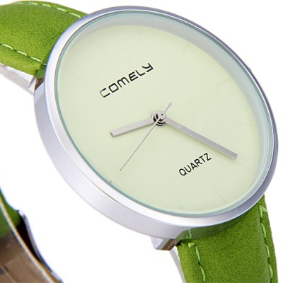 Фотография Comely 13812 Ultrathin Round Dial Female Quartz Watch