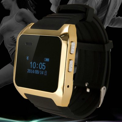V9 OLED Screen Bluetooth 3.0 Metal Case Silicone Band Smart Watch