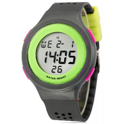 Synoke LED Sports Watch Day Date Alarm Display Water Resistance