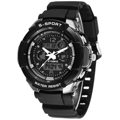 Synoke LED Outdoor Sports Watch Dual - movt Military Wristwatch