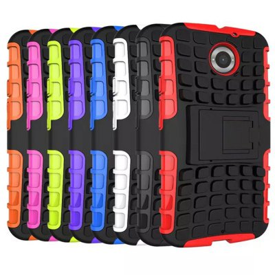 ФОТО Stand Design TPU and PC Material Tire Pattern Protective Back Cover Case for Motorola Moto X
