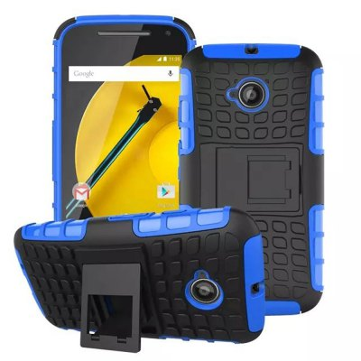 TPU and PC Material Back Cover Case for Motorola Moto E2