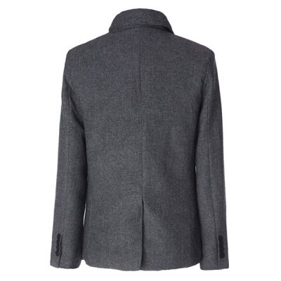 Stylish Stand Collar Herringbone Print Slimming Inlcined Button Fly Long Sleeves Mens CoatMens Jakets &amp; Coats<br>Stylish Stand Collar Herringbone Print Slimming Inlcined Button Fly Long Sleeves Mens Coat<br><br>Clothes Type: Trench<br>Material: Cotton, Polyester<br>Collar: Turn-down Collar<br>Clothing Length: Regular<br>Style: Fashion<br>Weight: 1.057KG<br>Sleeve Length: Long Sleeves<br>Season: Winter<br>Package Contents: 1 x Coat