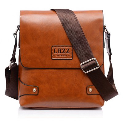 Faux Leather Casual Messenger Bag