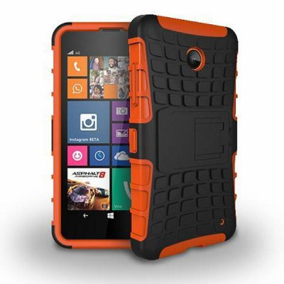 TPU and PC Material Back Cover Case for Nokia Lumia 630