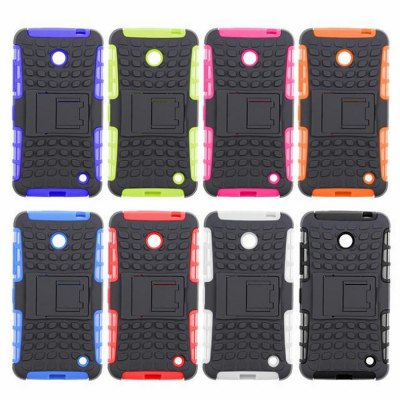 Фотография Stand Design TPU and PC Material Tire Pattern Protective Back Cover Case for Nokia Lumia 630