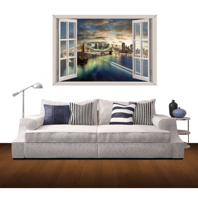 3d wall stickers romantic city style wall decals home for City chic bedding home goods