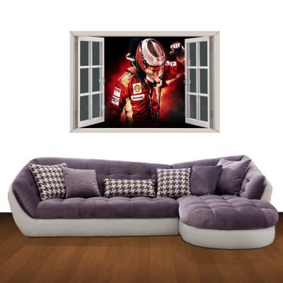 ФОТО Speed Racer Pattern Home Appliances Decoration 3D Wall Sticker