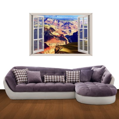 Canyon Pattern Home Appliances Decoration 3D Wall Sticker