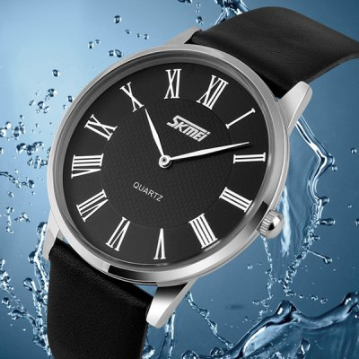 Skmei 9092 Men Japan Quartz Watch Water Resistant Ultra - thin WristwatchMens Watches<br>Skmei 9092 Men Japan Quartz Watch Water Resistant Ultra - thin Wristwatch<br><br>Brand: Skmei<br>Watches categories: Male table<br>Watch style: Business<br>Available Color: Black,White,Brown<br>Movement type: Quartz watch<br>Shape of the dial: Round<br>Display type: Analog<br>Case material: Stainless Steel<br>Band material: Leather<br>Clasp type: Pin buckle<br>Water resistance : 30 meters<br>The dial thickness: 0.7 cm / 0.28 inches<br>The dial diameter: 4.0 cm / 1.57 inches<br>The band width: 1.8 cm / 0.71 inches<br>Product weight: 0.037 kg<br>Package weight: 0.087 kg<br>Product size (L x W x H): 24.2 x 4 x 0.7 cm / 9.51 x 1.57 x 0.28 inches<br>Package size (L x W x H): 25.2 x 5 x 1.7 cm / 9.90 x 1.97 x 0.67 inches<br>Package Contents: 1 x Skmei 9092 Watch