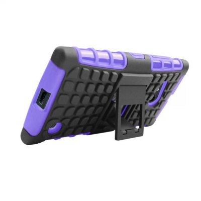 ФОТО Stand Design TPU and PC Material Tire Pattern Protective Back Cover Case for Nokia Lumia 730
