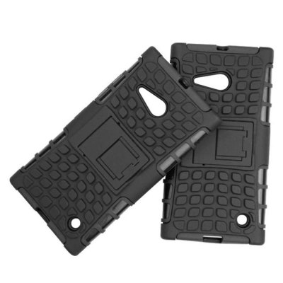Фотография Stand Design TPU and PC Material Tire Pattern Protective Back Cover Case for Nokia Lumia 730