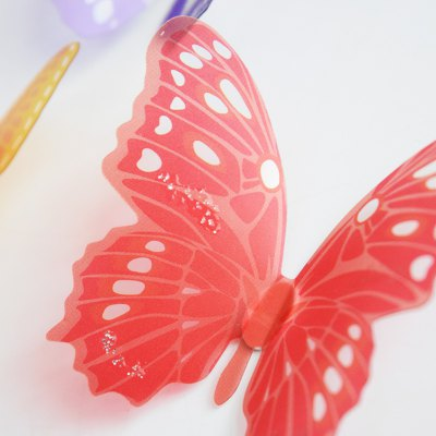 18pcs 3D Multicolor Butterfly Wall Sticker Decoration for Home Ornament