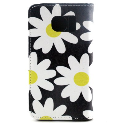 ФОТО Stand Design PU and PC Material Flower Pattern Protective Cover Case for Samsung Galaxy S6 G9200