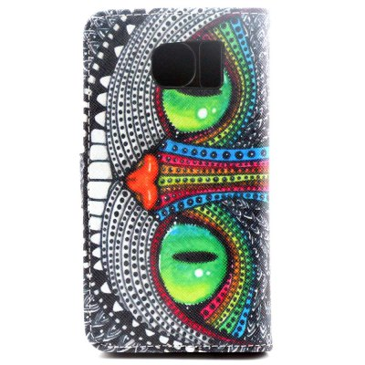 ФОТО Stand Design PU and PC Material Owl Pattern Protective Cover Case for Samsung Galaxy S6 G9200