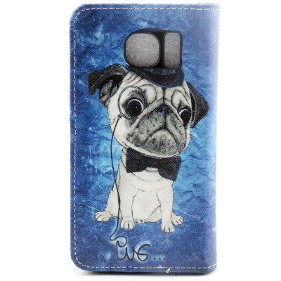 ФОТО Stand Design PU and PC Material Dog Pattern Protective Cover Case for Samsung Galaxy S6 G9200