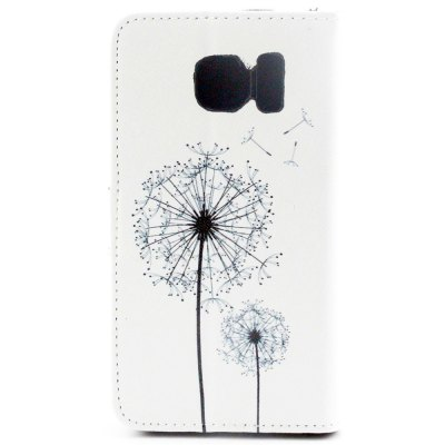 ФОТО Stand Design PU and PC Material Dandelion Pattern Protective Cover Case for Samsung Galaxy S6 G9200
