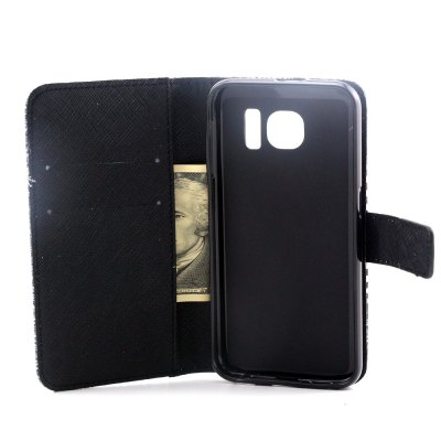 Фотография Stand Design PU and PC Material Dandelion Pattern Protective Cover Case for Samsung Galaxy S6 G9200