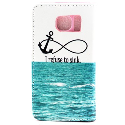 ФОТО Stand Design PU and PC Material Sea Pattern Protective Cover Case for Samsung Galaxy S6 G9200