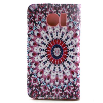 ФОТО Stand Design PU and PC Material Vintage Flower Pattern Protective Cover Case for Samsung Galaxy S6 G9200