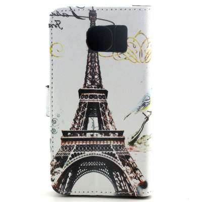 ФОТО Stand Design PU and PC Material Iron Tower Pattern Protective Cover Case for Samsung Galaxy S6 G9200