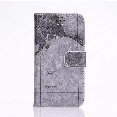 ФОТО Stand Design PU and PC Material Map Pattern Protective Cover Case for Samsung Galaxy S6 G9200