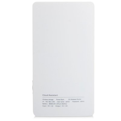 Фотография EDUP EP  -  9511N Travel - sized Wireless 3G Router with Free Cloud Assistant APP 8000mAh Power Bank Charger
