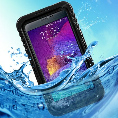 Waterproof Silicone and Plastic Cover Case for Samsung Galaxy Note 4 N9100