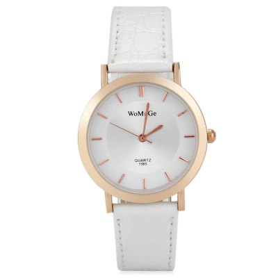 Фотография WoMaGe 1185 Fashion Leather Strap Women Quartz Watch