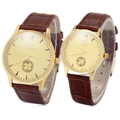 Jijia 8008 Japan Quartz Watch Couple Ultra - thin Genuine Leather Band WristwatchCouples Watches<br>Jijia 8008 Japan Quartz Watch Couple Ultra - thin Genuine Leather Band Wristwatch<br><br>Brand: Jijia<br>Watches categories: Couple tables<br>Watch style: Business<br>Style elements: Stainless steel<br>Available Color: Coffee<br>Shape of the dial: Round<br>Movement type: Quartz watch<br>Display type: Analog<br>Case material: Stainless steel<br>Band material: Genuine leather<br>Clasp type: Pin buckle<br>Package weight: 0.226 kg<br>Package size (L x W x H): 10 x 10 x 7 cm / 3.93 x 3.93 x 2.75 inches<br>The male dial dimension (L x W x H): 3.9 x 3.9 x 0.7 cm / 1.53 x 1.53 x 0.28 inches<br>The male watch band dimension (L x W): 23.3 x 1.8 cm / 9.59 x 0.71 inches<br>The male watch weight: 0.031 kg<br>The male watch size (L x W x H): 24.4 x 3.9 x 0.7 cm / 9.59 x 1.53 x 0.28 inches<br>The female dial dimension (L x W x H): 3.2 x 3.2 x 0.7 cm / 1.26 x 1.26 x 0.28 inches<br>The female watch band dimension (L x W): 23.5 x 1.4 cm / 9.24 x 0.55 inches<br>The female watch weight: 0.024 kg<br>The female size (L x W x H): 23.5 x 3.2 x 0.7 cm / 9.24 x 1.26 x 0.28 inches<br>Package contents: 2 x Jijia 8008 Watch, 1 x Box