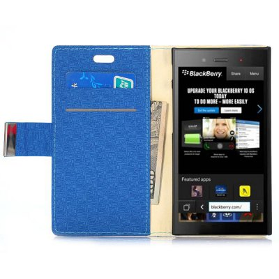 Фотография Stand Design Maze Pattern Protective Cover Case of PU and PC Material for BlackBerry Z3