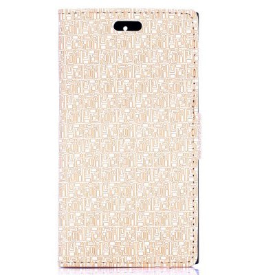 Stand Design Maze Pattern Protective Cover Case of PU and PC Material for BlackBerry Z3