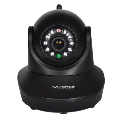Mustcam H809P 1.0MP WiFi Wireless IP PTZ Camera with IR - CUT for Home Security