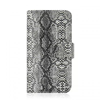 ФОТО Stand Design Snake Skin Pattern Protective Cover Case of PU and PC Material for Samsung Galaxy S6 G9200