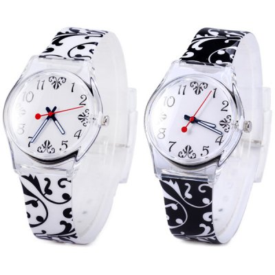Фотография Female Flower Quartz Watch with Rubber Band