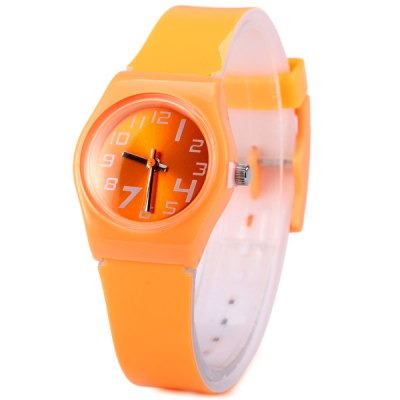 Female Analog Swirl Marks Quartz Watch