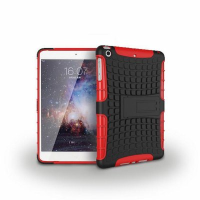 ФОТО Stand Design TPU and PC Material Tire Pattern Protective Back Cover Case for iPad mini 1 2 3