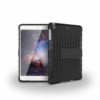 Stand Design TPU and PC Material Tire Pattern Protective Back Cover Case for iPad mini 1 2 3