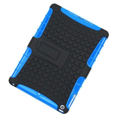 Фотография Stand Design TPU and PC Material Tire Pattern Protective Back Cover Case for iPad Air