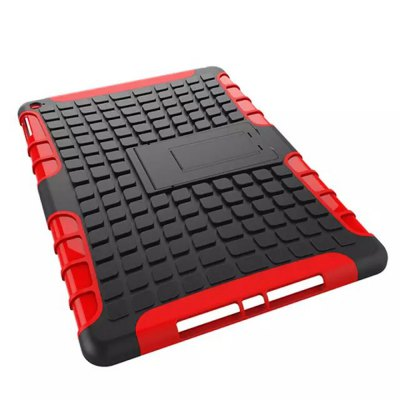 Фотография Stand Design TPU and PC Material Tire Pattern Protective Back Cover Case for iPad Air 2